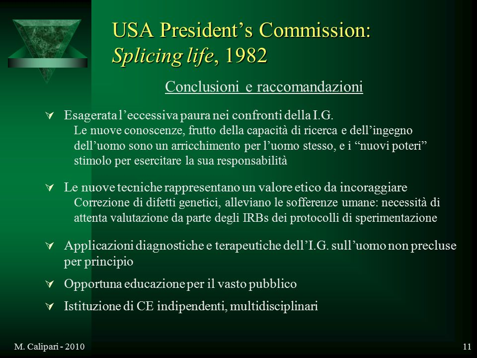 USA President's Commission: Splicing life, 1982