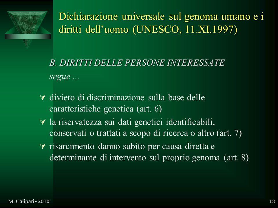 B. DIRITTI DELLE PERSONE INTERESSATE