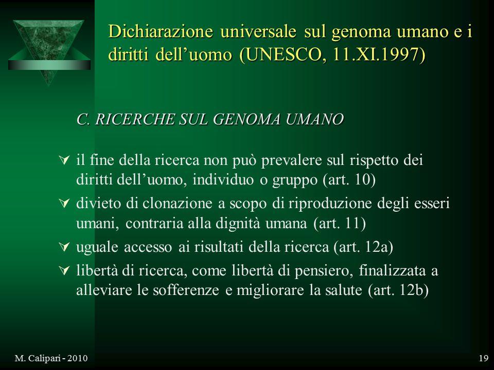 C. RICERCHE SUL GENOMA UMANO