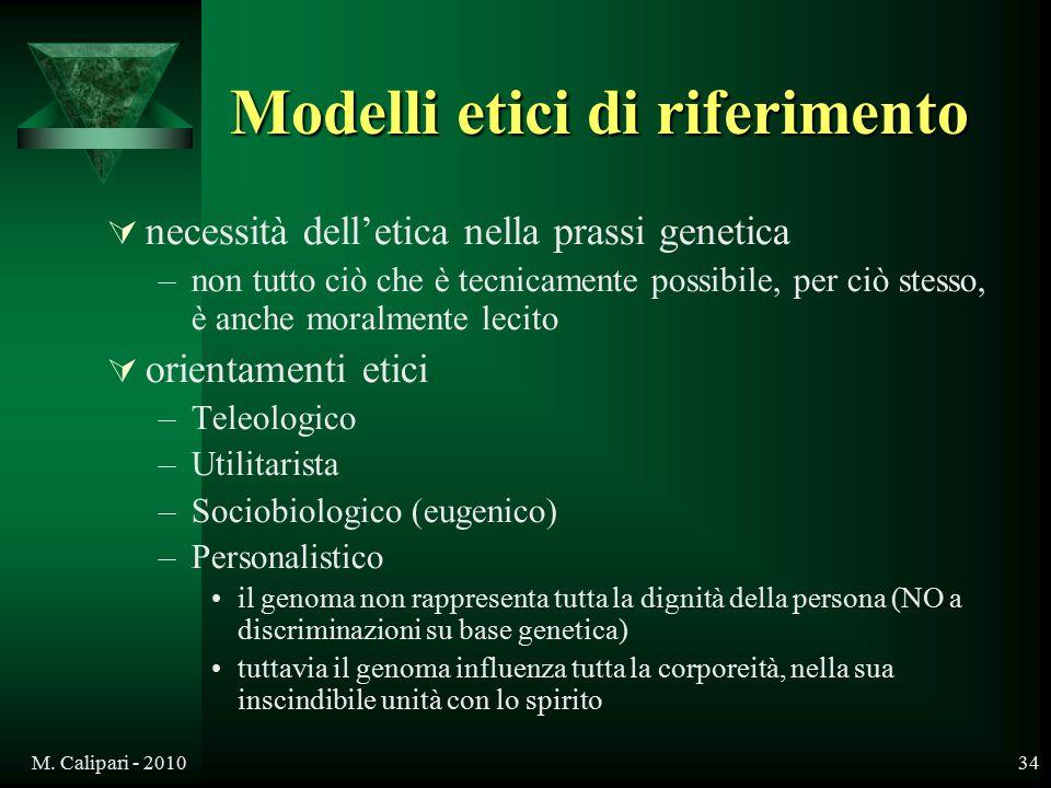 Modelli etici di riferimento