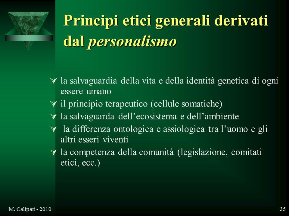 Principi etici generali derivati dal personalismo
