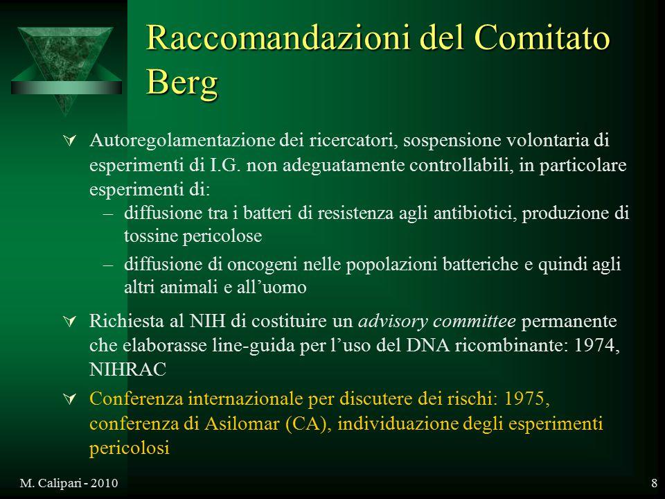 Raccomandazioni del Comitato Berg