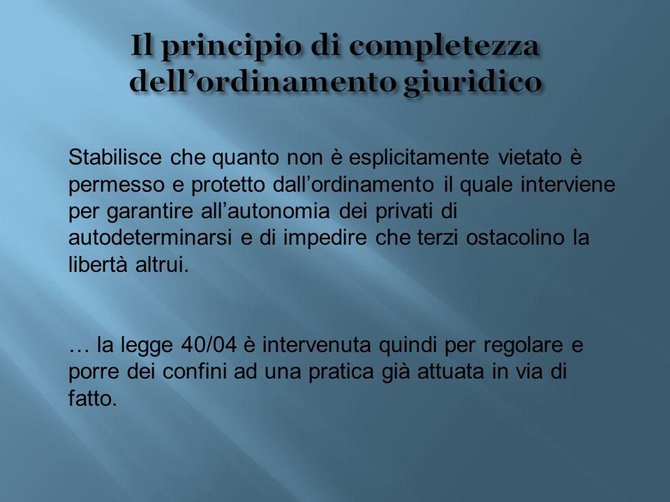 Il principio di completezza dell'ordinamento giuridico