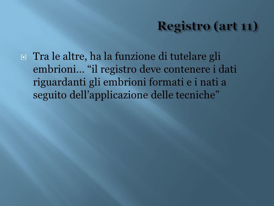 Registro (art 11)