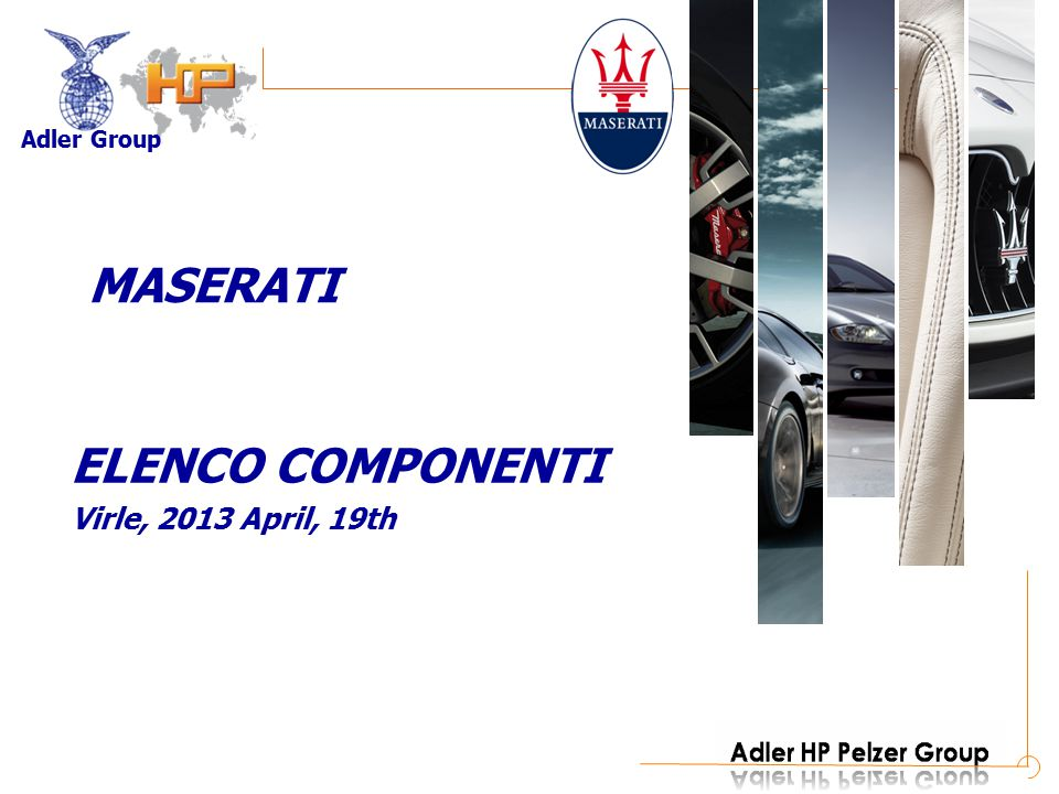 MASERATI ELENCO COMPONENTI Virle, 2013 April, 19th