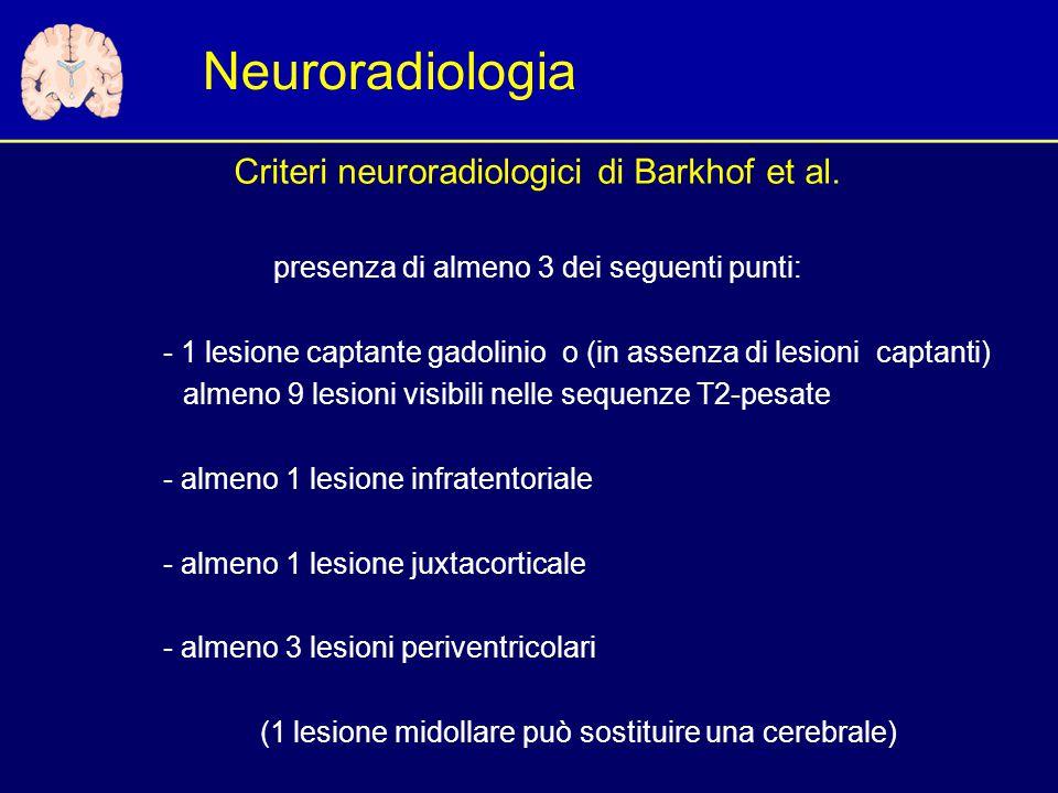 Neuroradiologia Criteri neuroradiologici di Barkhof et al.
