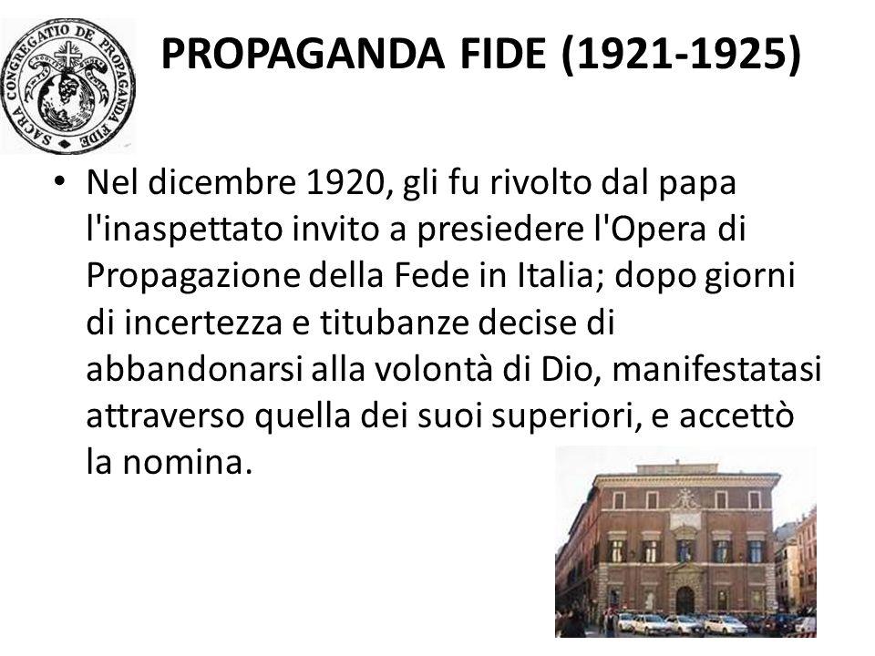 Propaganda Fide (1921-1925)