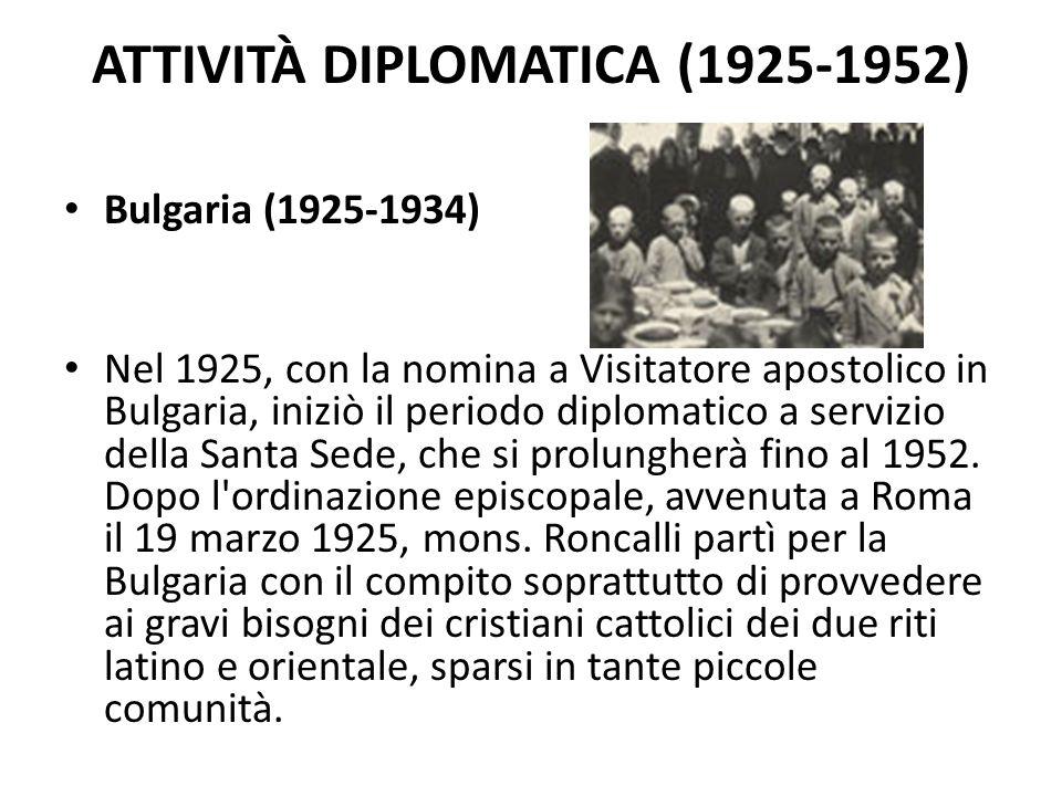 Attività diplomatica (1925-1952)