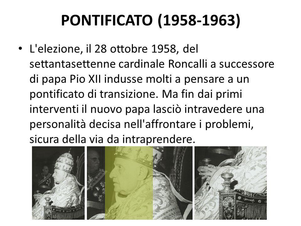 Pontificato (1958-1963)