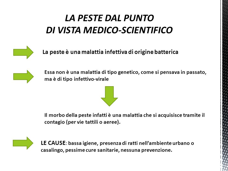 LA PESTE DAL PUNTO DI VISTA MEDICO-SCIENTIFICO