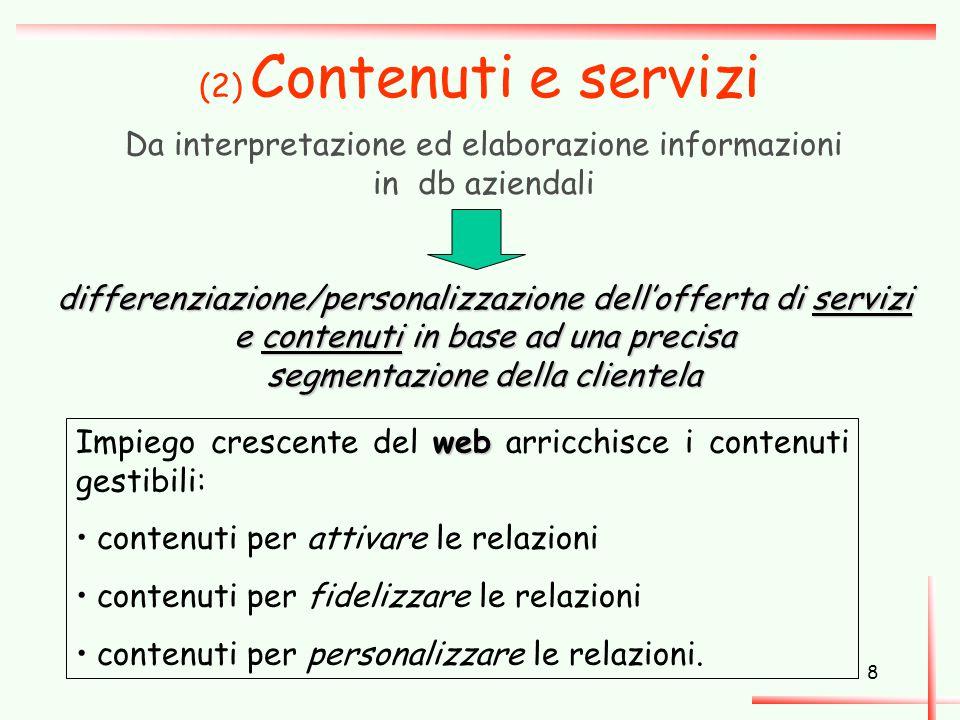 Da interpretazione ed elaborazione informazioni in db aziendali