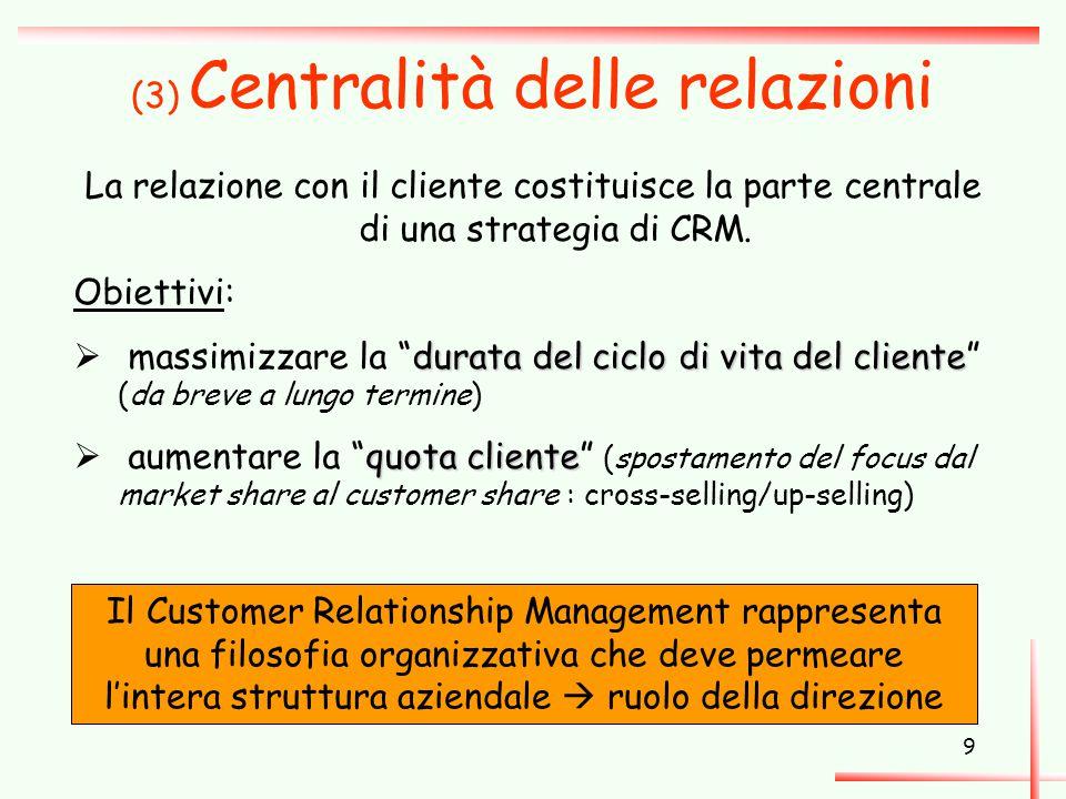 (3) Centralità delle relazioni