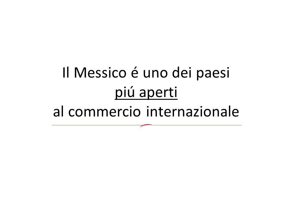Il Messico é uno dei paesi piú aperti al commercio internazionale