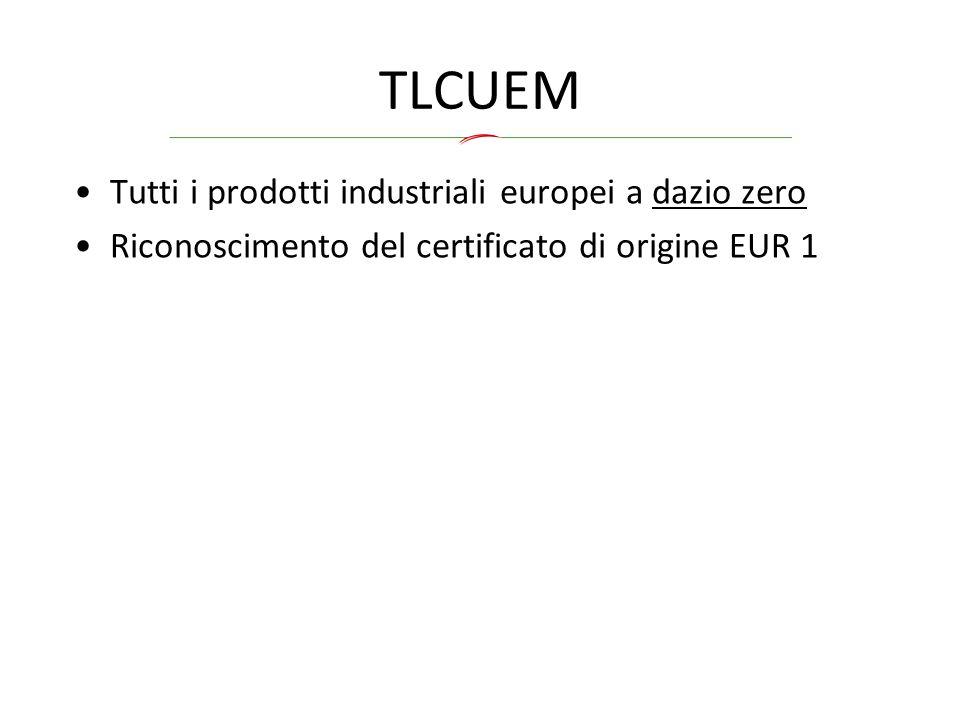 TLCUEM Tutti i prodotti industriali europei a dazio zero