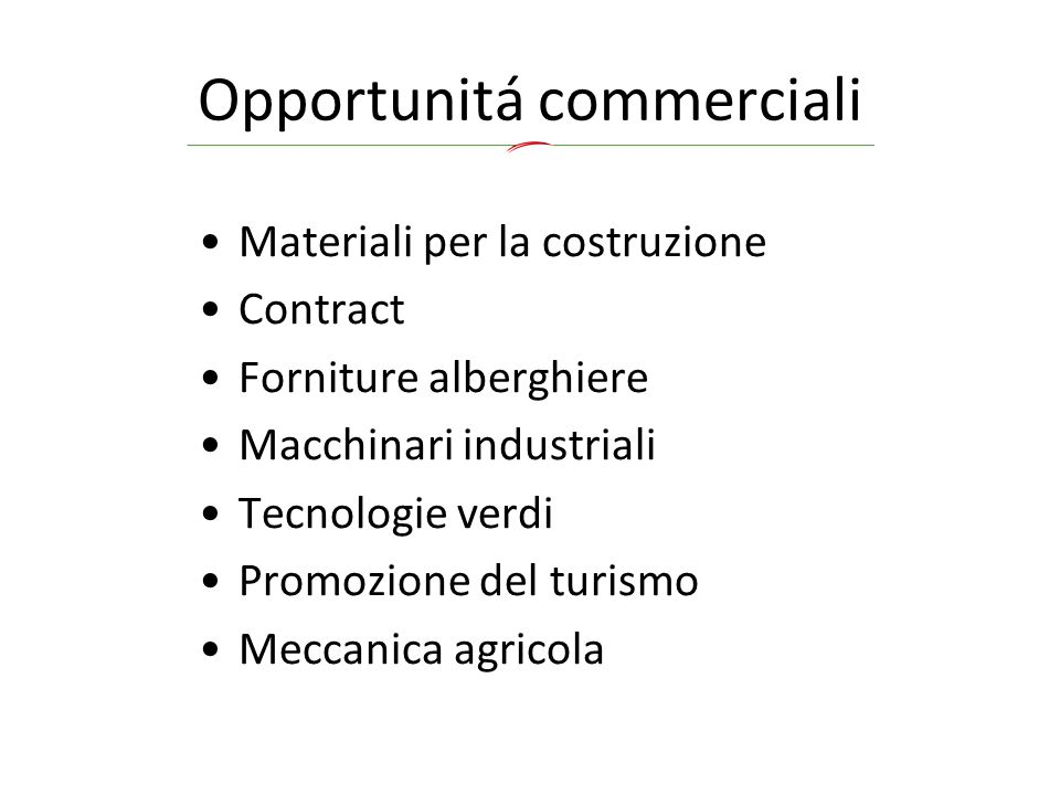 Opportunitá commerciali
