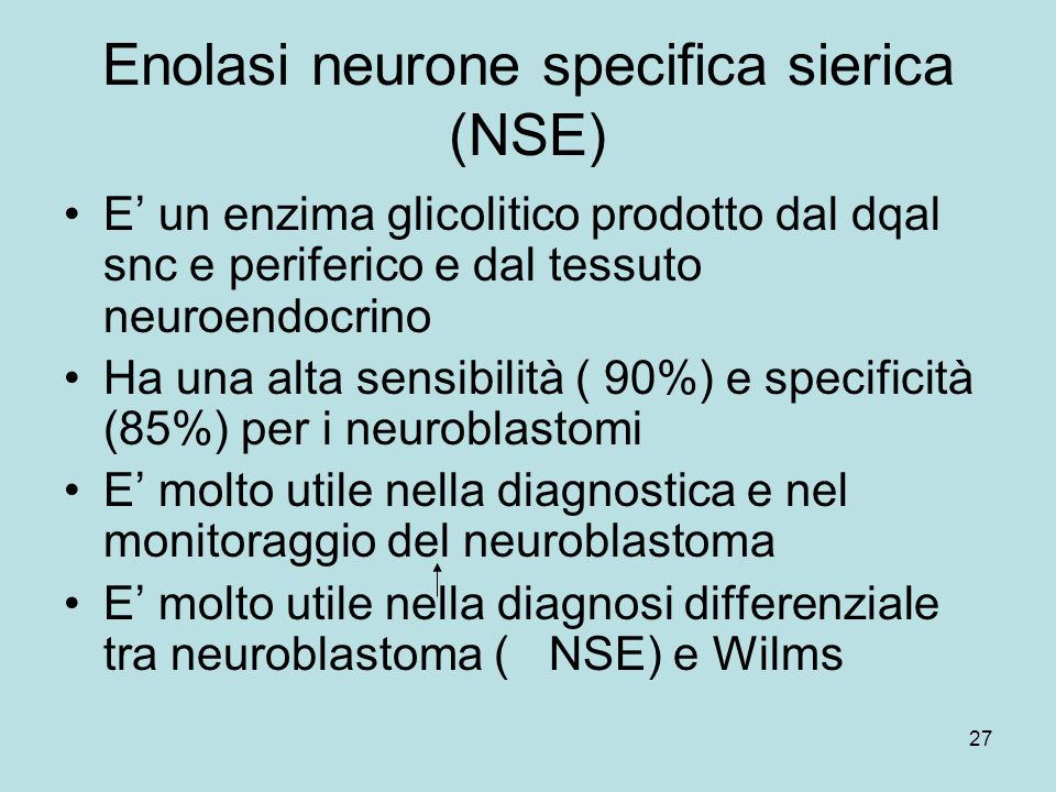 Enolasi neurone specifica sierica (NSE)