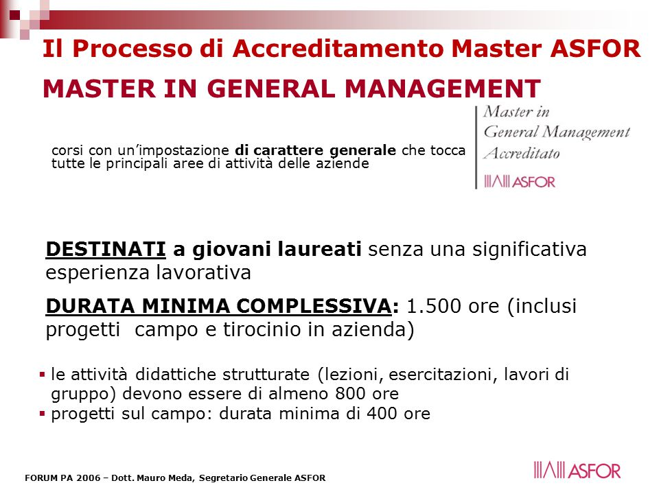 MASTER IN GENERAL MANAGEMENT