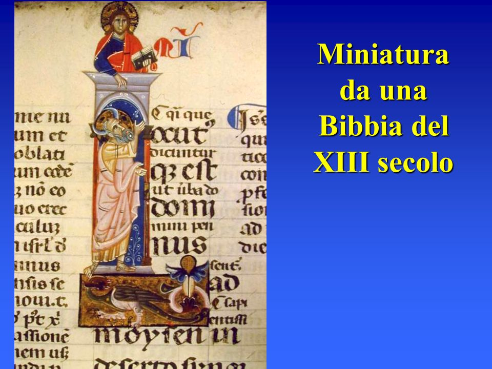 Miniatura da una Bibbia del XIII secolo