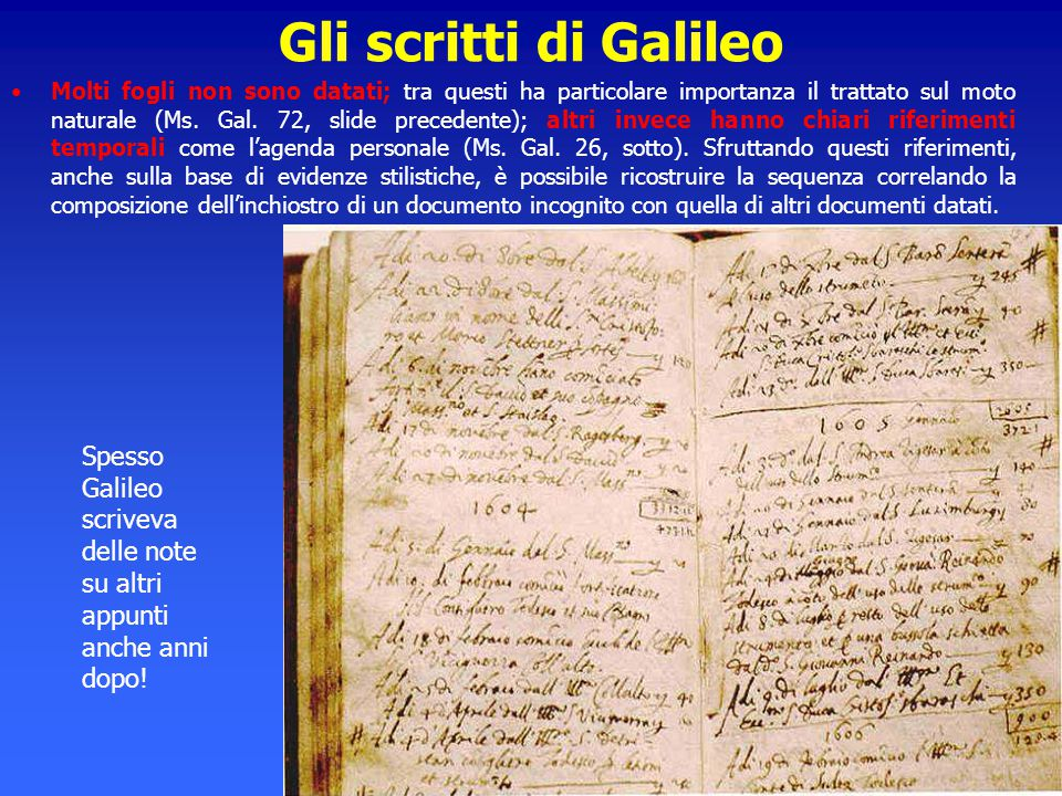 Gli scritti di Galileo