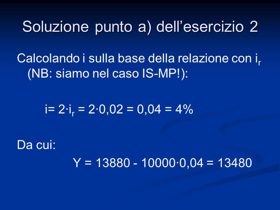 Soluzione punto a) dell'esercizio 2