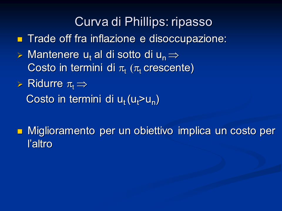 Curva di Phillips: ripasso