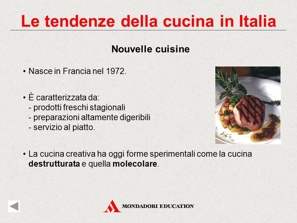 Le tendenze della cucina in Italia