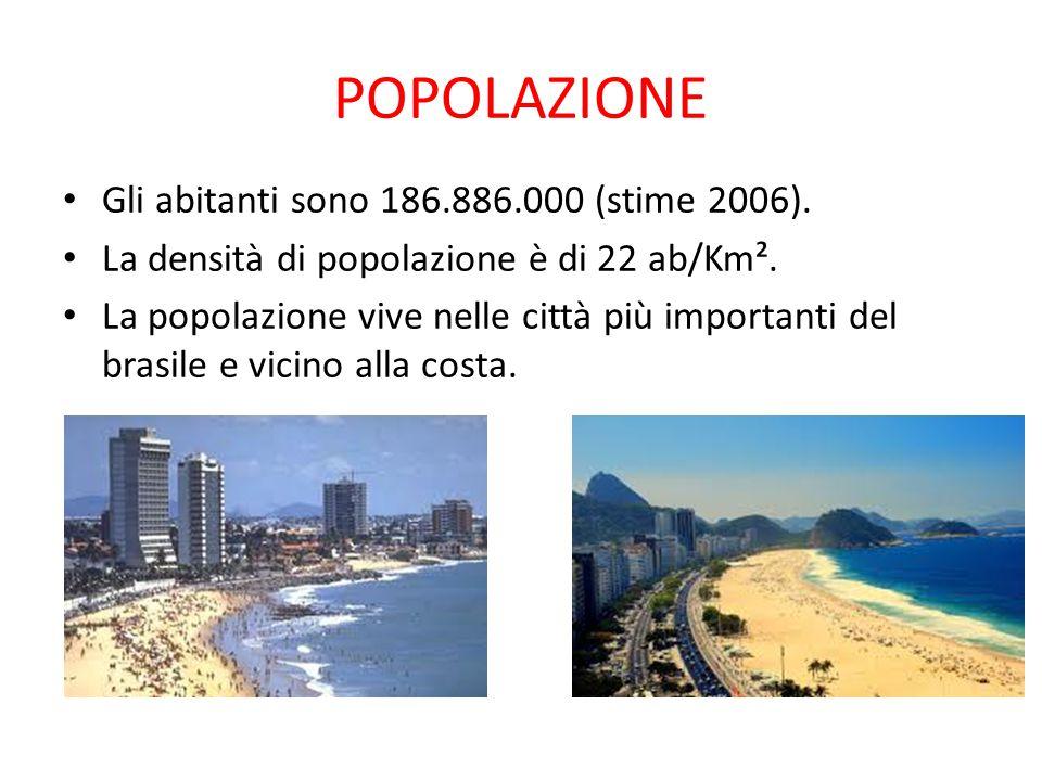 POPOLAZIONE Gli abitanti sono 186.886.000 (stime 2006).