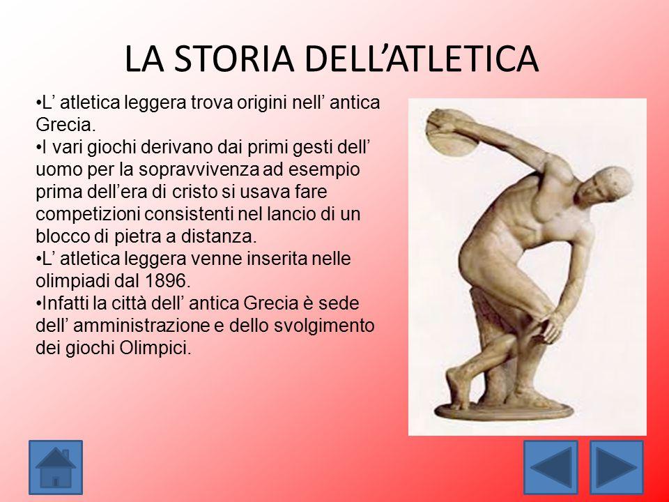 LA STORIA DELL'ATLETICA
