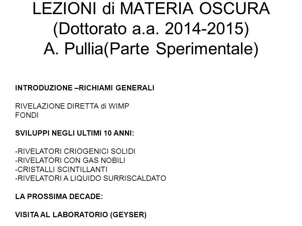 LEZIONI di MATERIA OSCURA (Dottorato a. a. 2014-2015) A