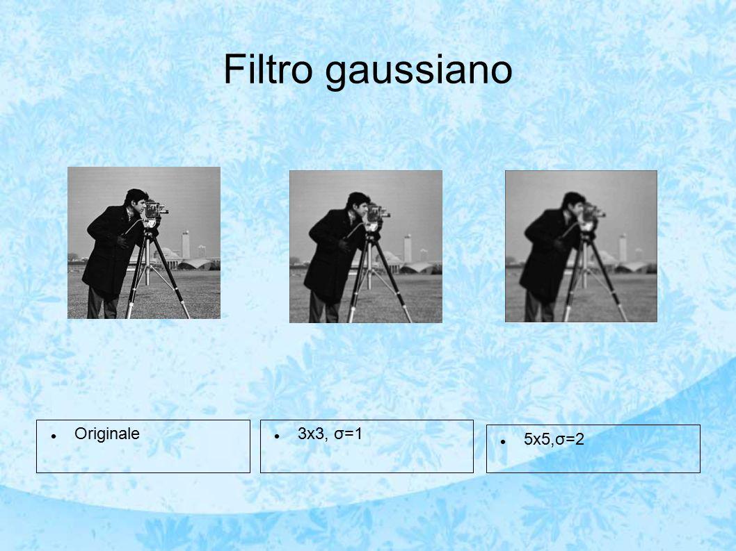 Filtro gaussiano Originale 3x3, σ=1 5x5,σ=2