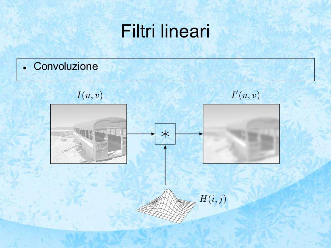 Filtri lineari Convoluzione