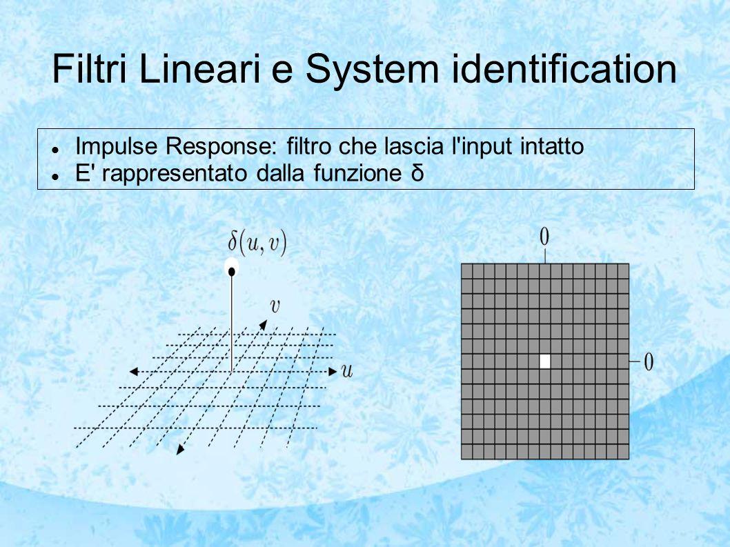 Filtri Lineari e System identification