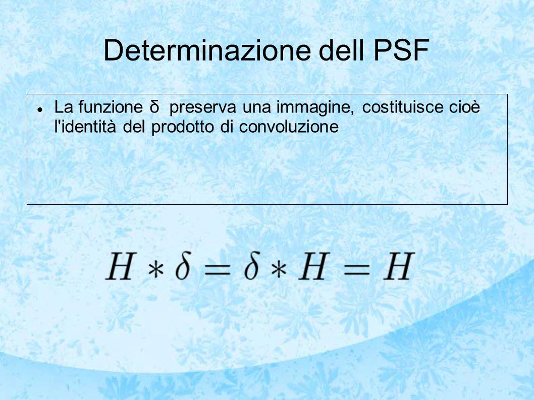Determinazione dell PSF