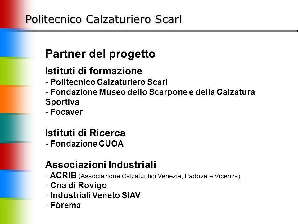 Partner del progetto Politecnico Calzaturiero Scarl