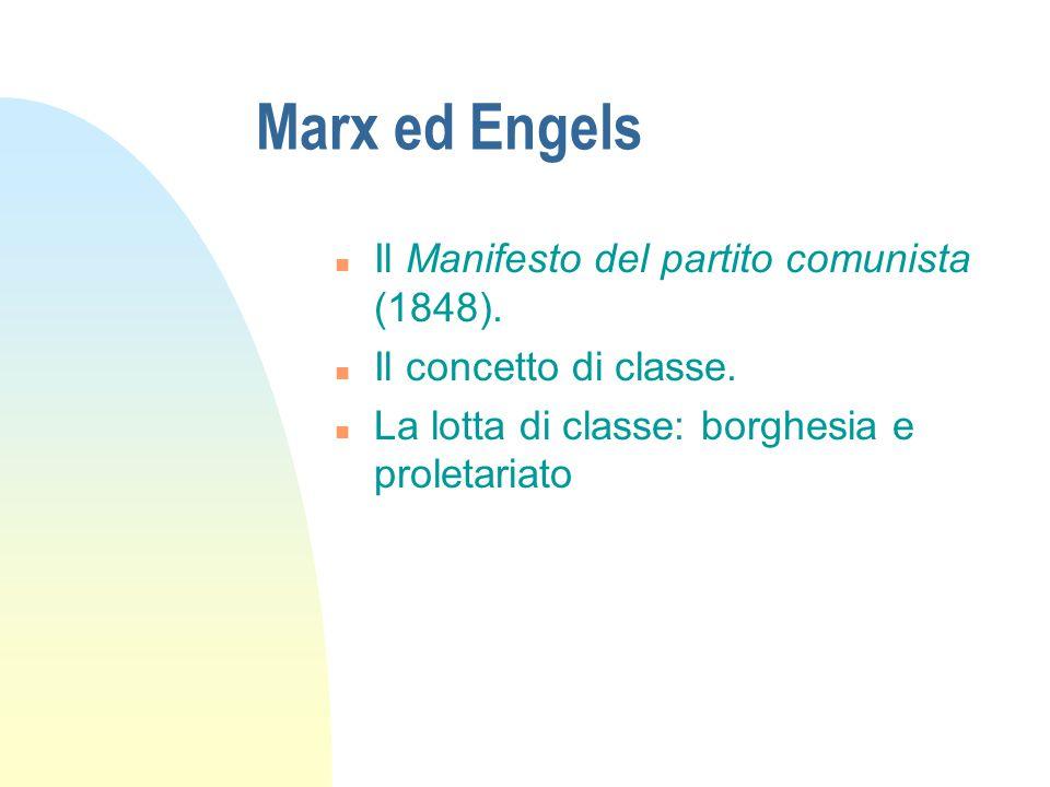 Marx ed Engels Il Manifesto del partito comunista (1848).