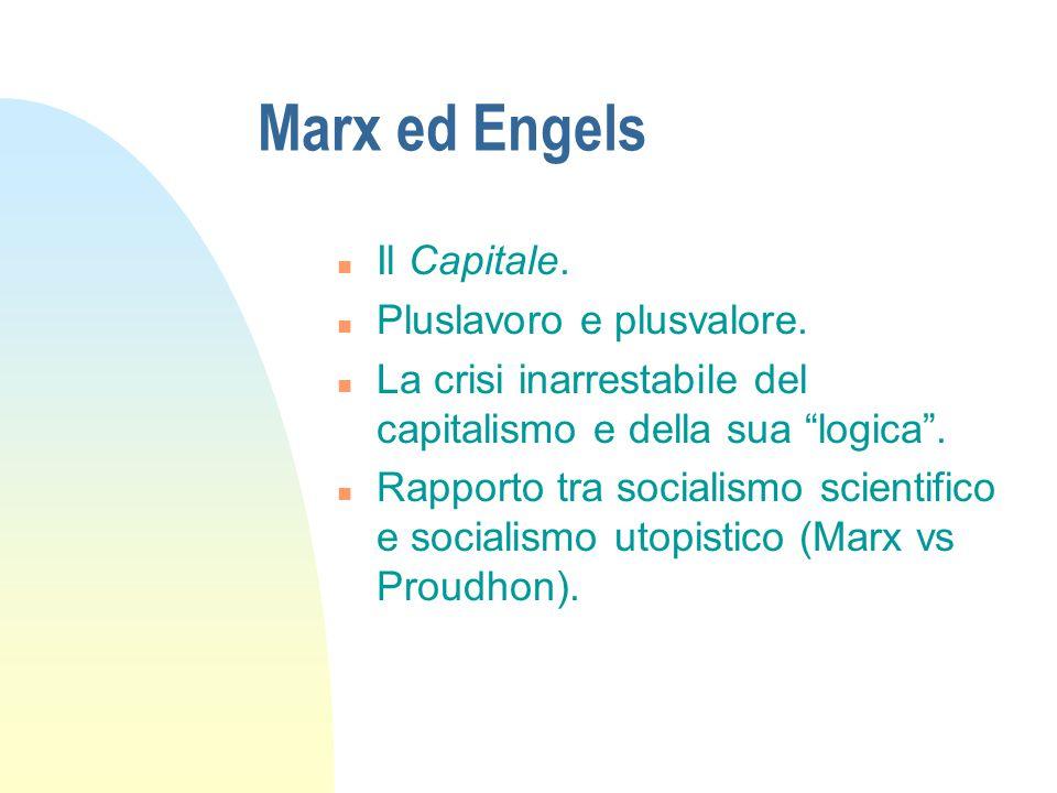 Marx ed Engels Il Capitale. Pluslavoro e plusvalore.