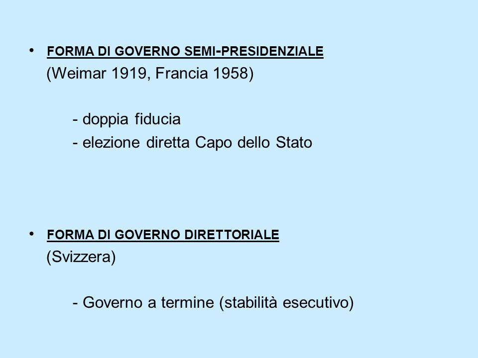 forma di governo semi-presidenziale