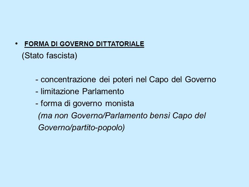 forma di governo dittatoriale