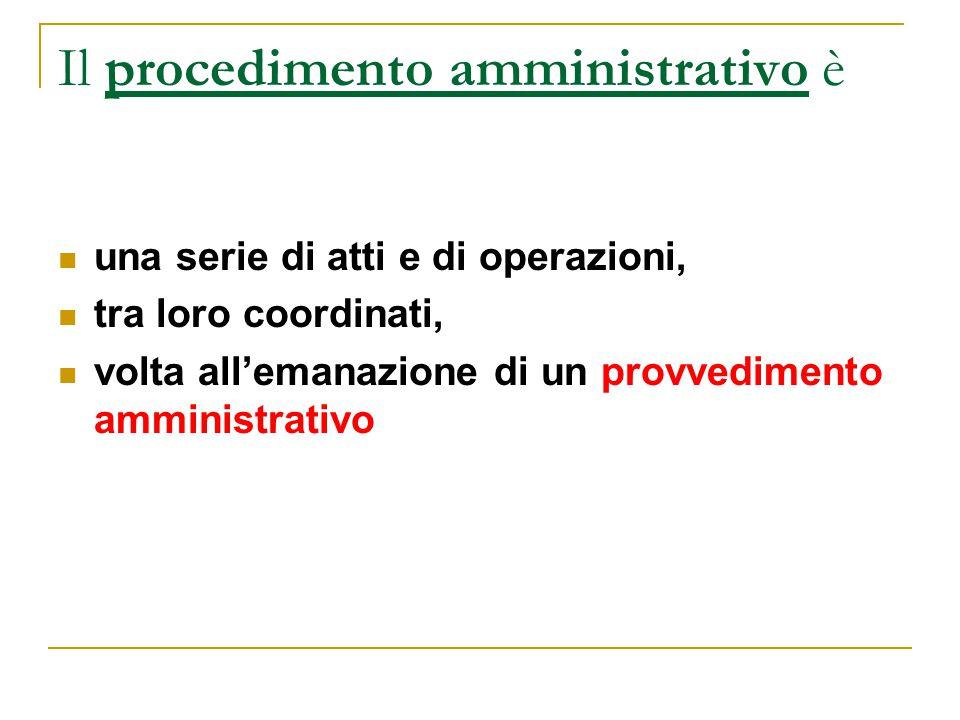 Il procedimento amministrativo è
