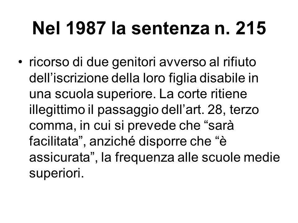 Nel 1987 la sentenza n. 215