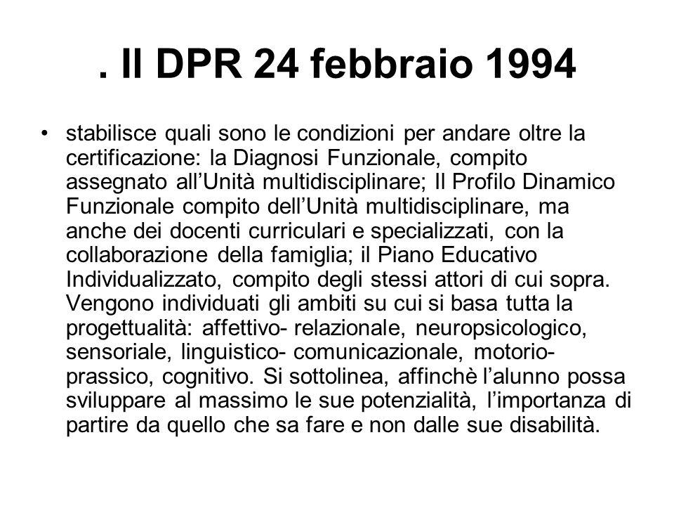 . Il DPR 24 febbraio 1994