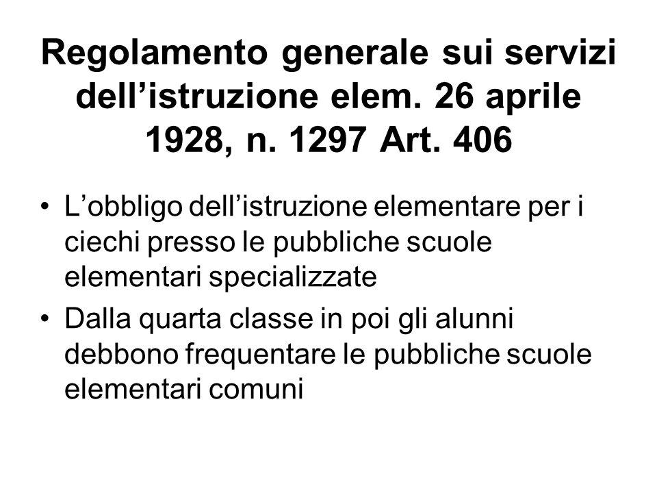Regolamento generale sui servizi dell'istruzione elem