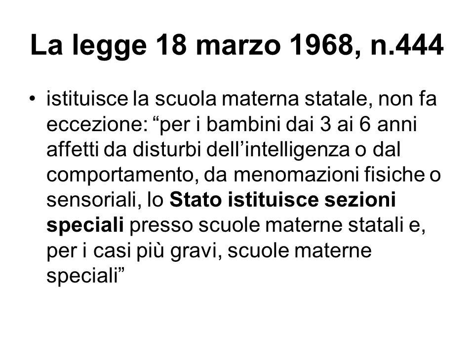 La legge 18 marzo 1968, n.444