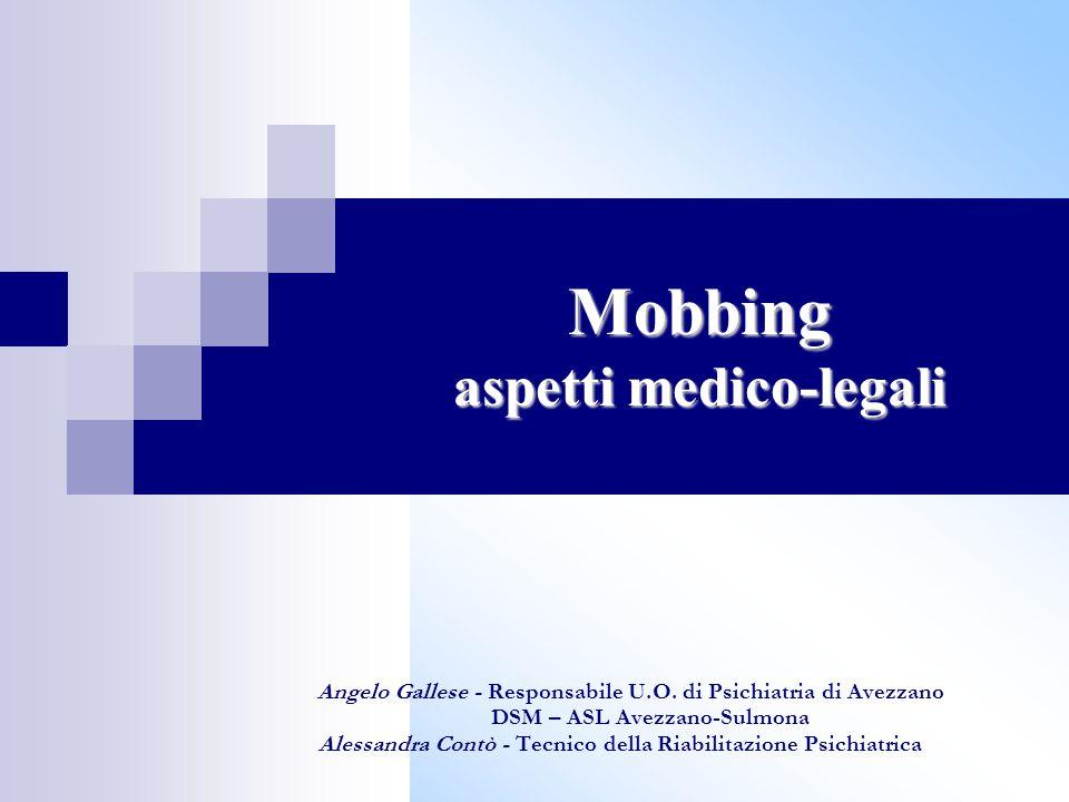 Mobbing aspetti medico-legali