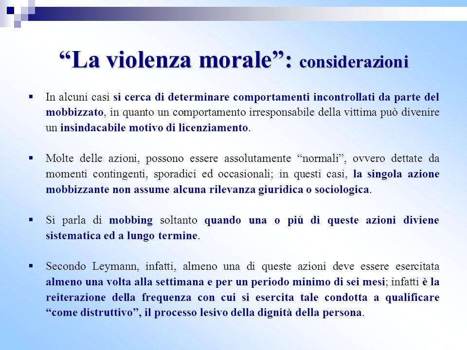 La violenza morale : considerazioni