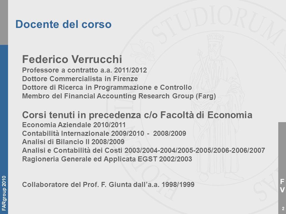Docente del corso Federico Verrucchi