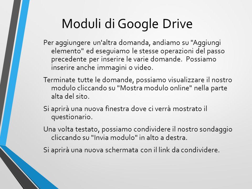 Moduli di Google Drive