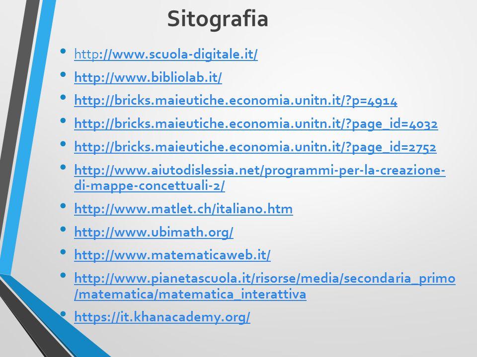 Sitografia http://www.scuola-digitale.it/ http://www.bibliolab.it/