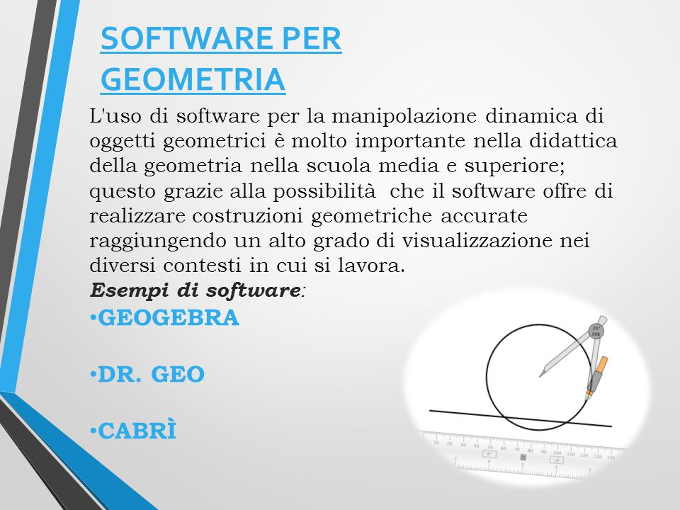 SOFTWARE PER GEOMETRIA