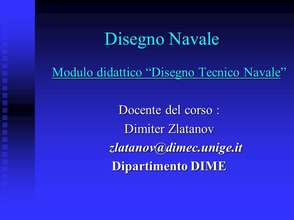 Modulo didattico Disegno Tecnico Navale